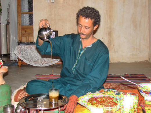 sweet mint tea and a hearty meal shared with the Tuareg