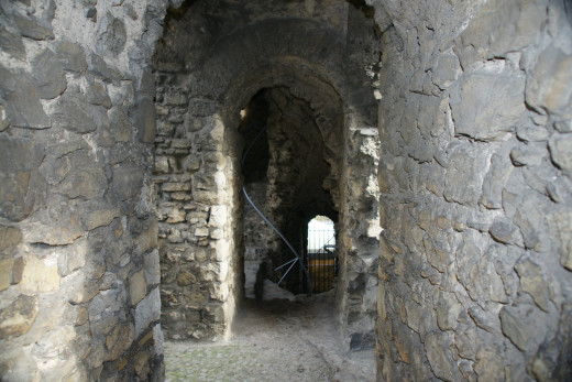 Staircase to battlements
