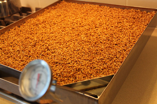 Drying Sprouted Grains on the EZ-Stove Top Drying Pan