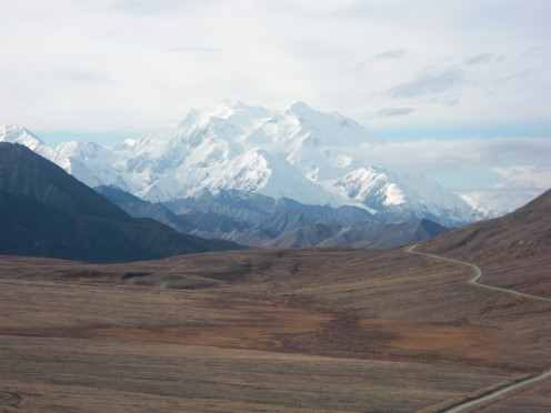 Denali, also known as Mt. McKinley, is located within Denali National Park