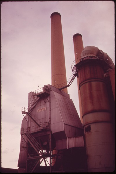 An electrostatic precipitator.