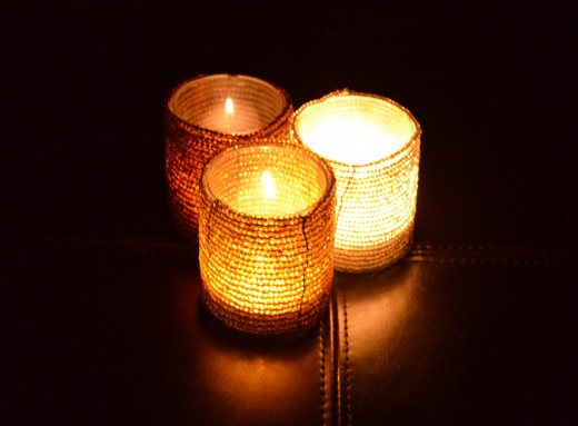 Light a candle to relax.