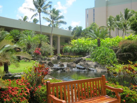 Grounds at the Kauai Marriot Resort and Beach Club