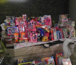 Toys collected from donors