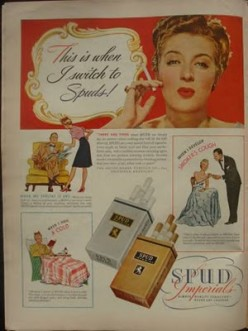 products from the past: Spud Cigarettes