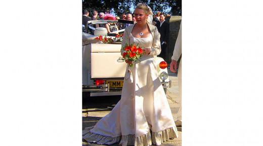 Wedding Dress with Frill Hem Photo