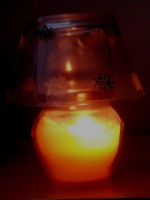 Candles create extra warmth, aroma and atmosphere.