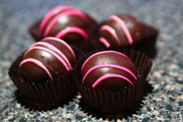 Enjoy your favorite dessert such as these Raspberry chocolate truffles.