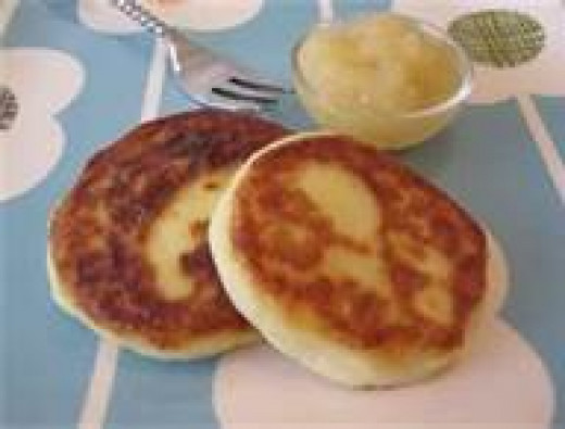 Tater cakes made from left over mashed potatoes.