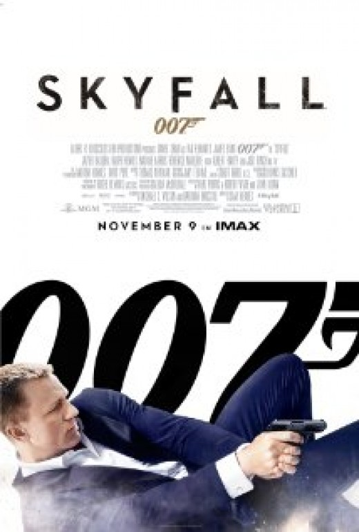 Theatrical poster for the new James Bond movie Skyfall