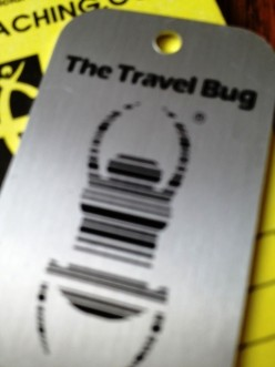 An official Geocaching Travel Bug