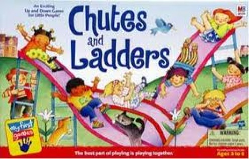 Chutes and Ladders is a great board game for children. It's not very hard but it's entertaining nonetheless.