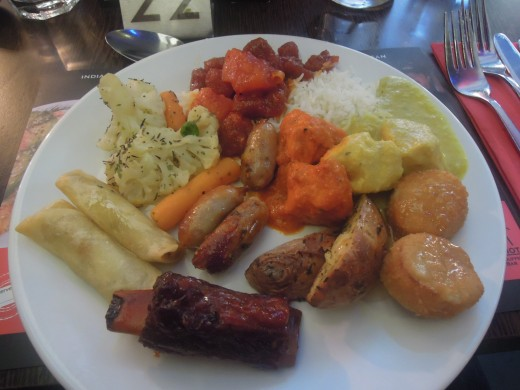 A selection of Chinese and indian at the Red Hot Buffet