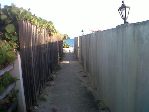 path to Long Bay Beach