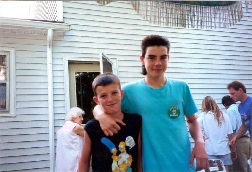 Our Peter (on right) with his brother Anthony.