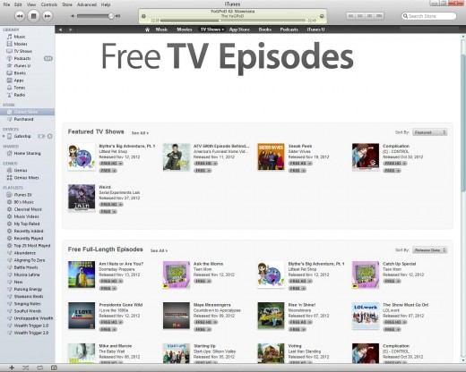 Every week there are new free downloads advertised on the iTunes Store like these TV episodes. Check often!