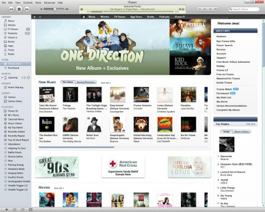The iTunes Store covers music, movies, TV shows and more, with ratings on new and popular content.