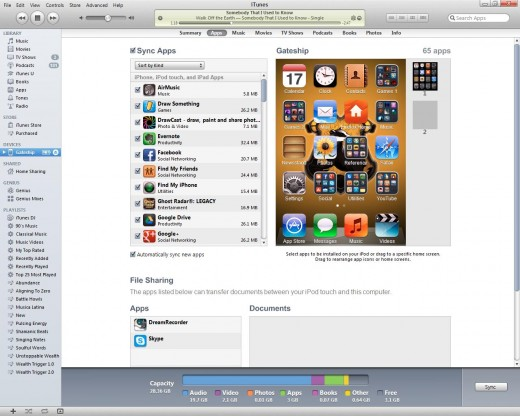 You can decide which apps you want to sync onto your Apple device and which you want to leave out.