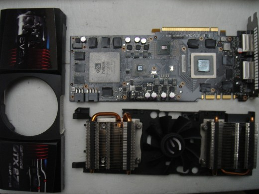Reflow a graphic card.