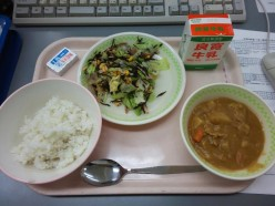 Can you eat Japanese food?  What's in school lunches in Japan? (pix!)