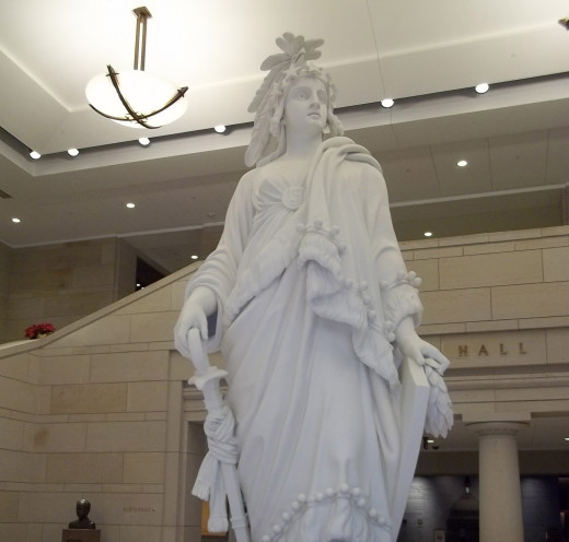 Plaster Model of the Statue of Freedom at the U.S. Capitol Visitor Center.