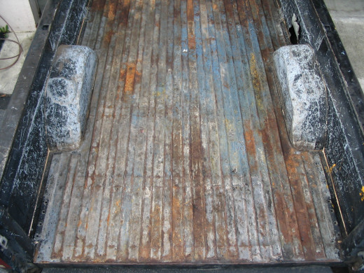 Ok, this is an extreme example, but most of the corrosion in this bed is from actually having a bedliner in it for a long period of time.