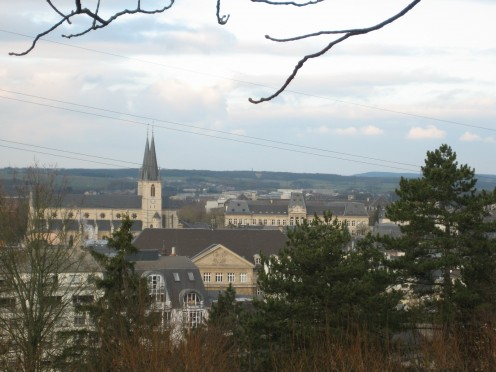 Esch-sur-Alzette seen from the Gaalgebierg
