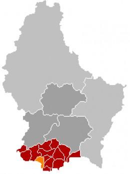 Map location of Esch-sur-Alzette, Luxembourg