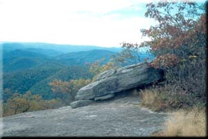 A view near the summit of Blood Mountain