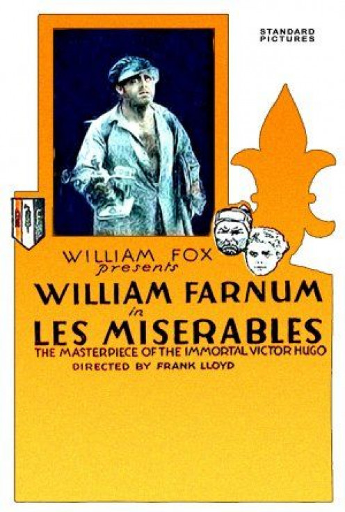 "Movie poster produced for the 1917 silent film version of author Victor Hugo's ""Les Miserables."""