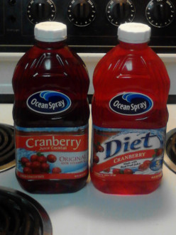 Ocean Spray Cranberry Juice Cocktail vs Diet Cranberry Juice Drink