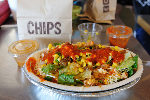 Salad from Chipotle Mexican Grill