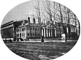 The original US State Department building in Washington, DC, in 1865.  Courtesy Wikipedia Commons.