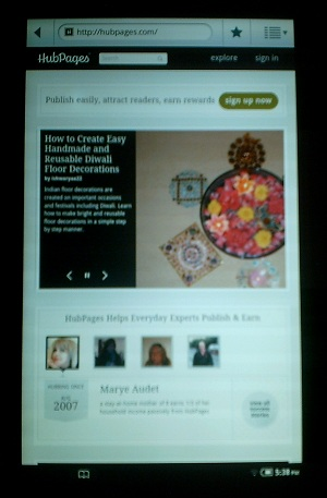 Access the World Wide Web on the Nook!