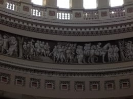 "Portion of the ""Frieze of American History"" in the U.S. Capitol Rotunda."