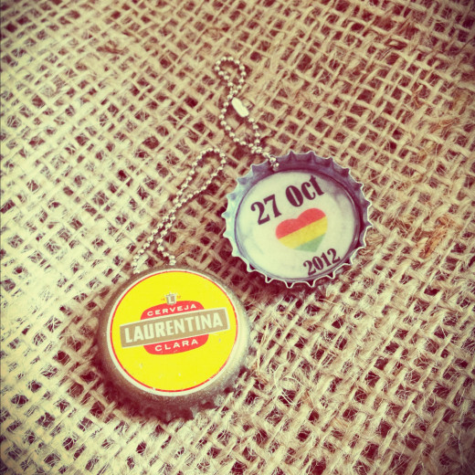 Save the Date Wedding Favours Bottle Cap Key Chain