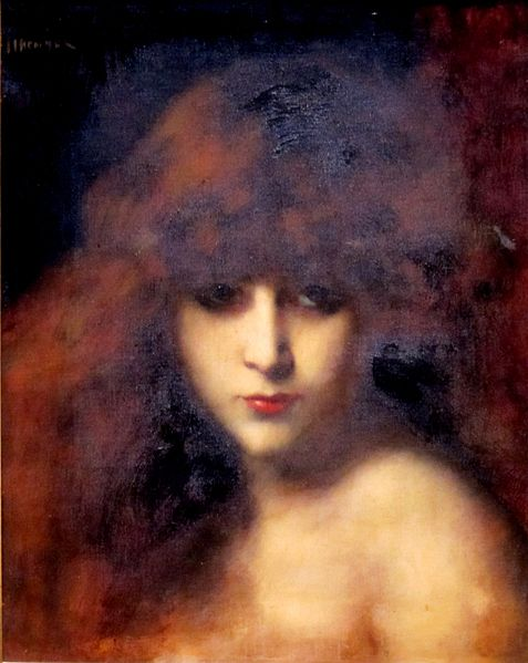 Head of a woman, by Jean Jacques Henner (1829-1905)
