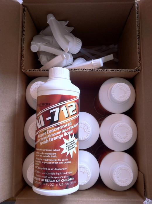 Case of NI-712 Airborne Odor Eliminator Fresh Orange (9 x 16 oz bottles)
