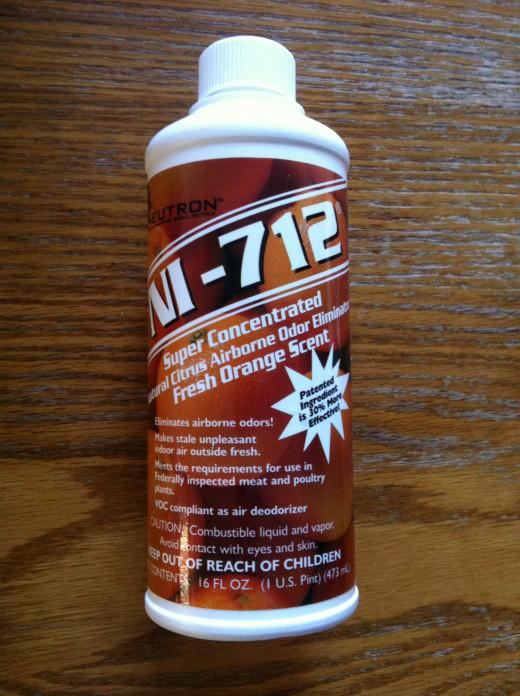 NI-712 Airborne Odor Eliminator Fresh Orange without a sprayer