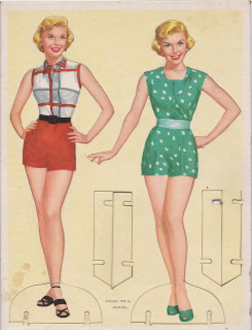 Doris Day paper dolls.