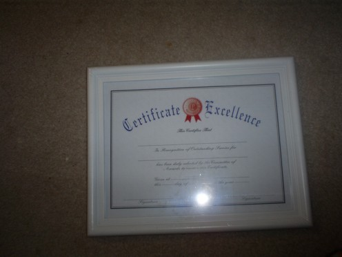 Diploma frames are great for displaying drawings.