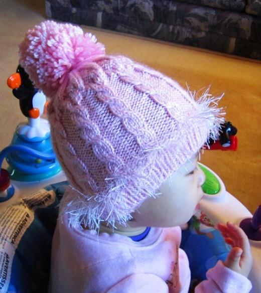 Youtube Knitting In The Round Double Pointed Needles : How to knit a baby hat with double pointed needles pink