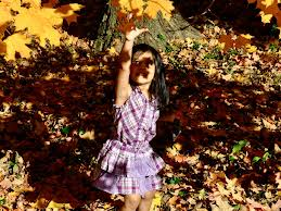 Playing with leaves can be so much for kids!!!