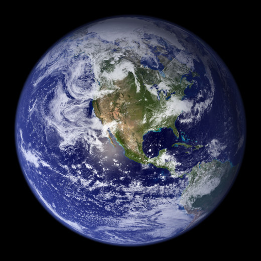 Earth, Image by Reto Stöckli (NASA)