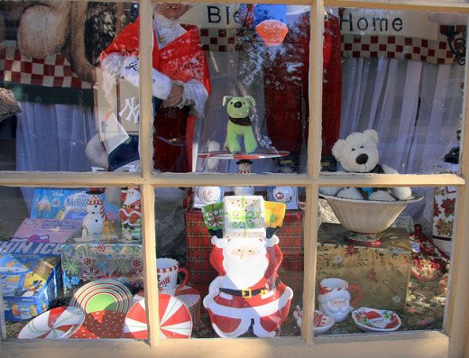 A very cute Christmas window display
