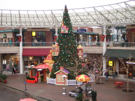 Christmas decorated Malls hearten the joy of Christmas each year.