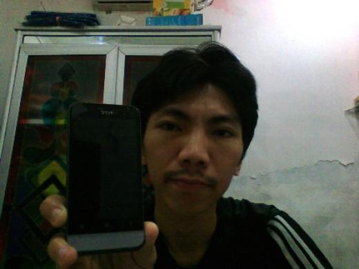 Me and my prestigious prize HTC One V :)