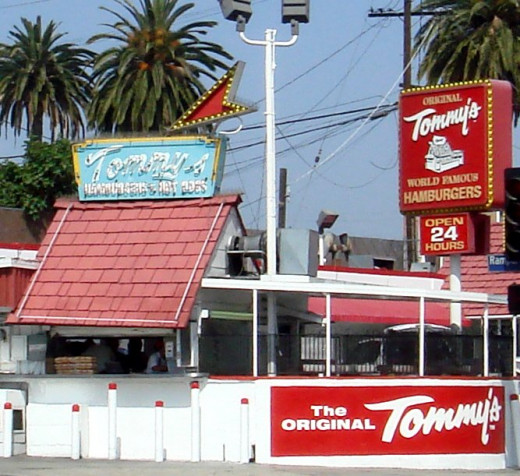 The original Tommy's shack in Los Angeles, California.