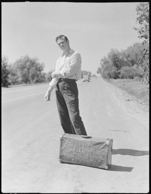Hitchhiking in the 1940s