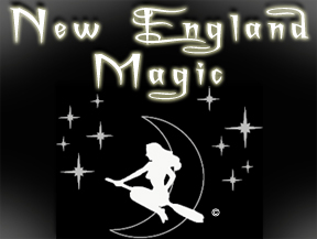 The logo for an enchanting shop in Salem, MA.